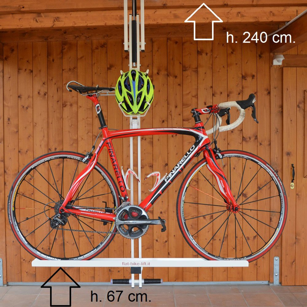 flat bike lift ceiling overhead bike rack ceiling bike storage