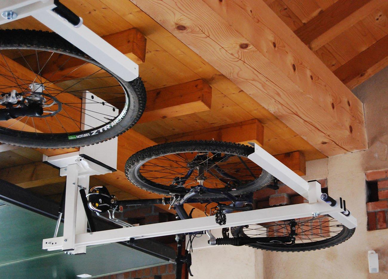 portabici da soffitto per mountain bike touring bike e trekking bike flat bike lift. Black Bedroom Furniture Sets. Home Design Ideas