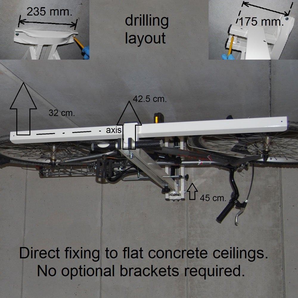 Flat Bike Lift Ceiling Overhead Bike Rack Ceiling Bike